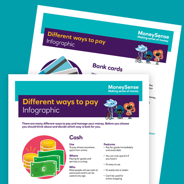 Different ways to pay infographic