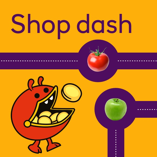 Shop dash activity sheet